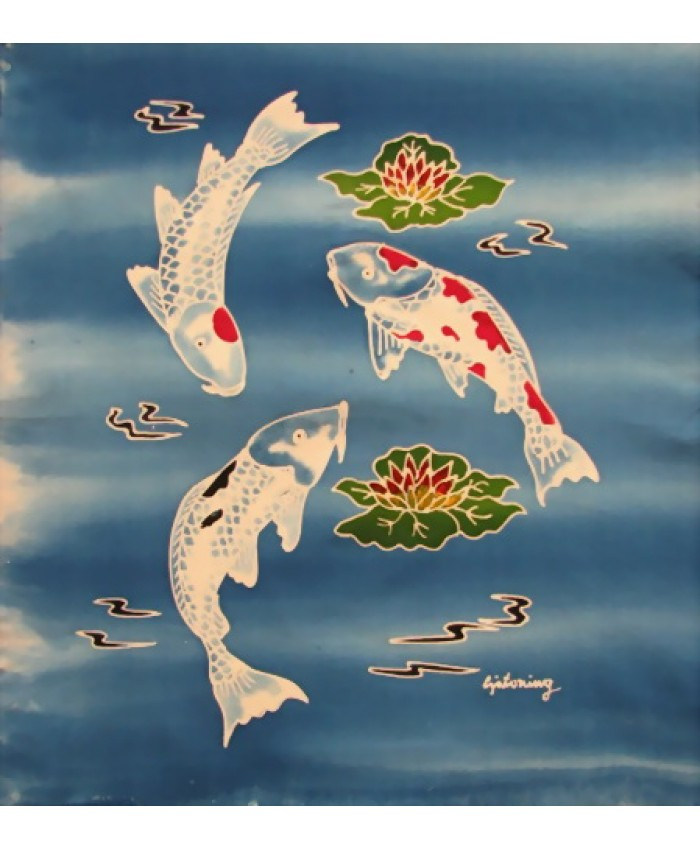 White Koi Fish