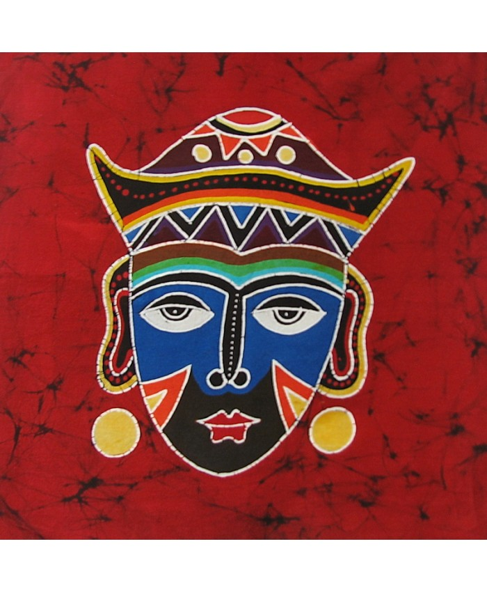 Colorful Mask on Red