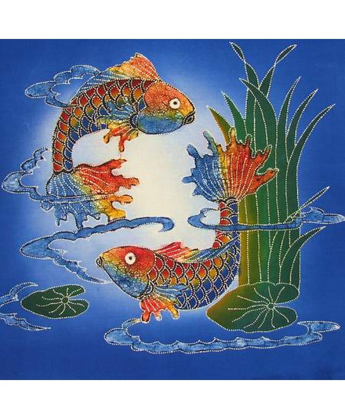 Koi Fish Blue Seas