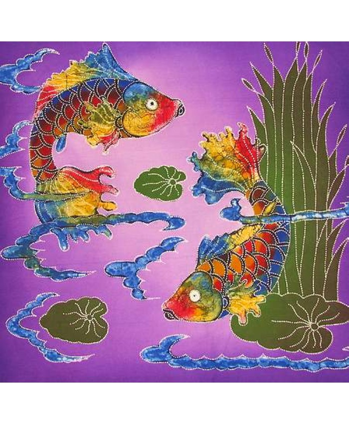 Koi Fish Purple Seas
