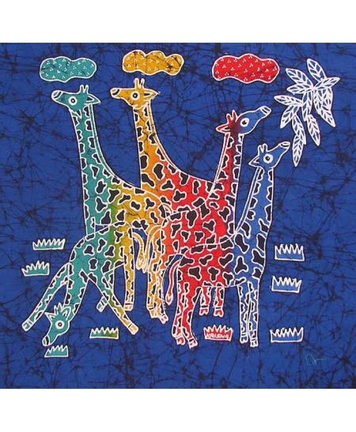 Rainbow Giraffes- blue