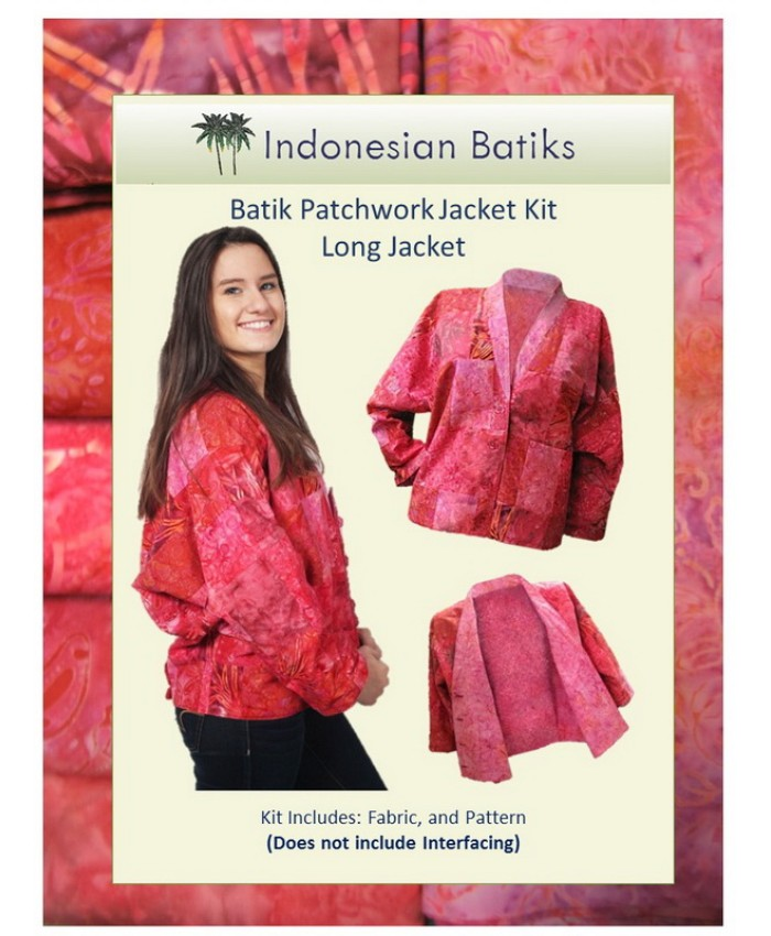 Batik Patchwork Jacket Long Version KIT