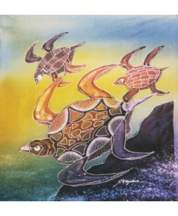 Sea Turtle Mom and Babies