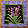 Purple Flowers- Wall Hanging