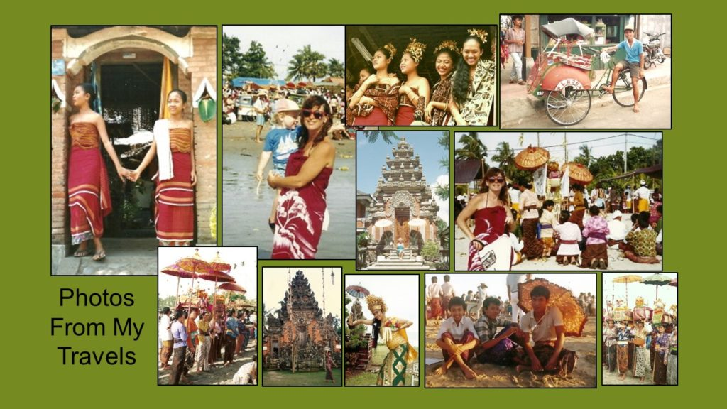 traveling photos collage