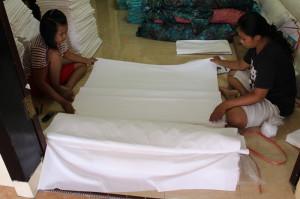 checking white cotton