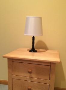 white lamp shade
