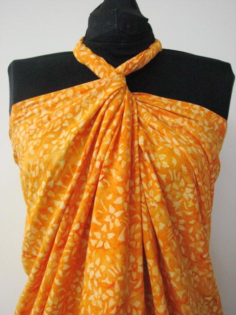 Multicolor Hand Batik Sarong Pareo Scarf Wrap Full Size Rayon Beach Cover up
