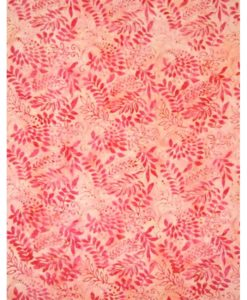 Pink Leaves on Pink- RBF03120 (Available in Rayon)