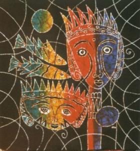 Original- Small Batik PR12- Mystic Faces