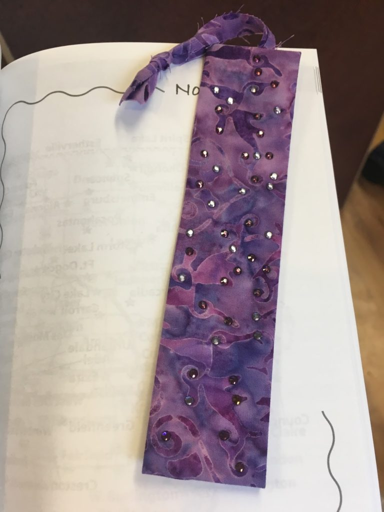 finished bookmark