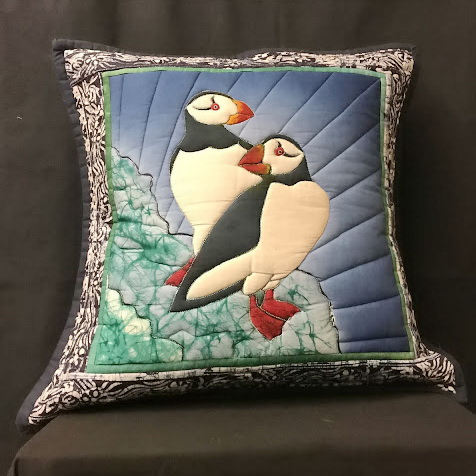 puffin pillow-ed