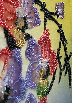 close up beaded flowers 1